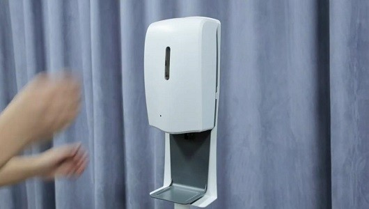 AUTOMATIC SOAP DISPENSER. USE WITH SOAP LIQUID, HAND SANITIZER GEL OR LIQUID
